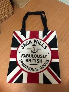 Jack Wills 英倫風 Tote Bag 布袋