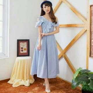 Sabrina stripe dress