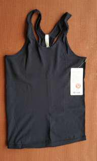 Lululemon Reveal Racerback Top Size 8 Navy Blue New with Tags. Gym/Yoga Wear.