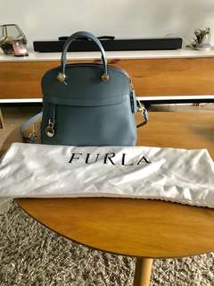 Brand new Genuine Furla Top Handle Piper Small Bag Dusty Blue