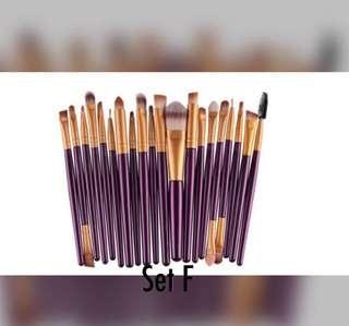 🚚 💕20pcs Super Soft Bristles Make Brush set F💕