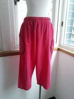 🚚 綿麻刺繡褲
