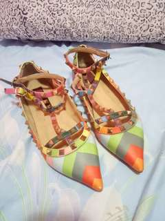 VALENTINO GARAVANI colorful sandals.