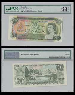 For sale: 1 piece of Canada 20 Dollars - PBC-50b - PMG 64EPQ