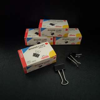 Binder Clips (Size:19 mm). Brand new, never used