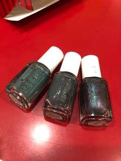 Essie kutek nail polish hologram 3 pcs