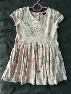 Baby Gap 3T girl floral pink 100% cotton dress