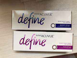 BN acuvue define contact lenses