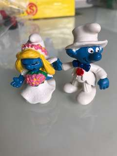 Bride and Groom Smurf