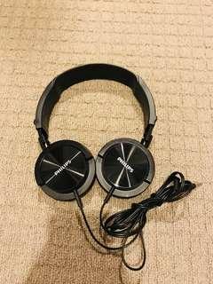 Bass boasted headphones