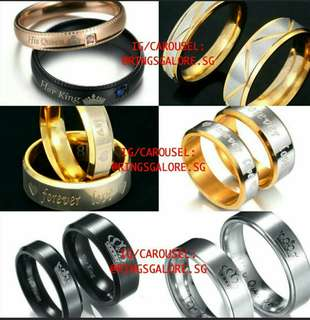 Couple ring with engravement