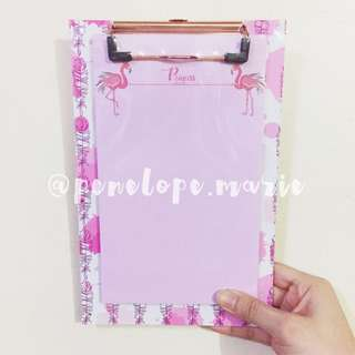 Flamingo Stationery Clipboard (Pink) + Free Shipping*