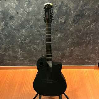 🚚 Ovation Elite LX Black 12 String Acoustic Guitar