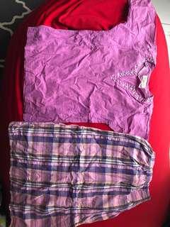 Baju kurung Cotton Purple