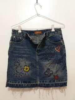 Maong Stylish Skirt