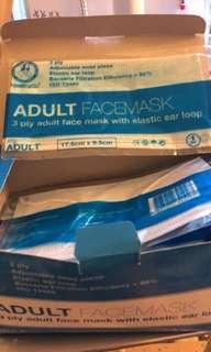 30個成人口罩,Adult Facemask 3ply