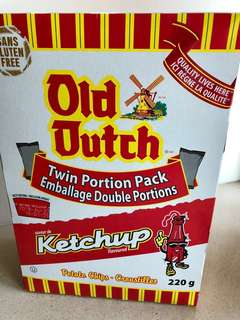 Old Dutch ketchup chips (twin portion pack)