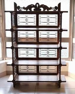 細鍛鐵老件可拆式實木櫃