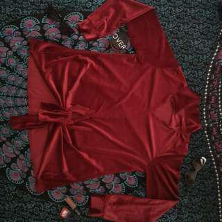 Velvet maroon