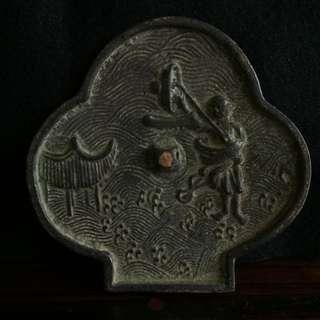 🚚 老件 老銅 黃銅  青銅鏡  鎮宅 招財 風水細工 細雕