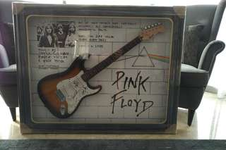 Pink Floyd Guitar Frame Signed from the Band