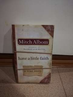 Have a Little Faith by Mitch Albom preloved book