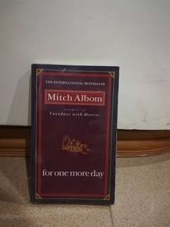 For One More Day by Mitch Albom preloved book