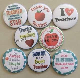 Teacher's Day Badges