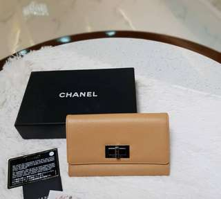 UNUSED. Chanel Caviar Wallet