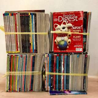 130 for $20! Readers Digest Magazines