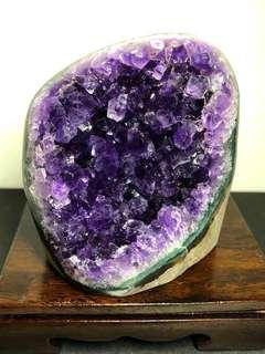 Amethyst crystal slab 紫晶镇 464g