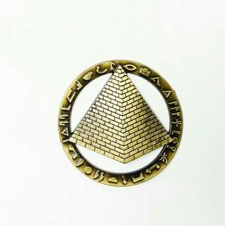 Pyramid of Egypt Metal Ref Magnet