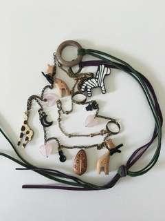 日本時裝店買的長頸鍊