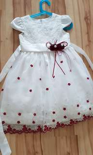 5-6 years old girl dress (95-120cm) 2pcs