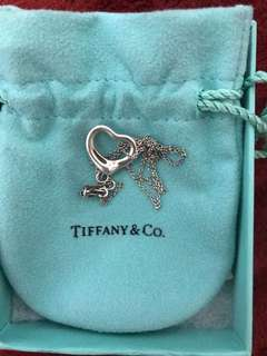 Kalung Tiffany and co open heart pendant