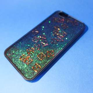 [New] 綠色流沙金屬方塊手機殼 iPhone case 6/6s