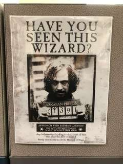 Harry Potter Sirius Black Wanted Poster