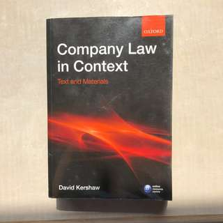 Kershaw / Company Law in Context