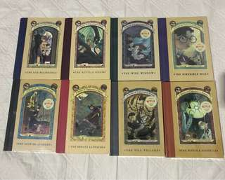 A Series of Unfortunate Events Book 1-8 (FREE SHIPPING)