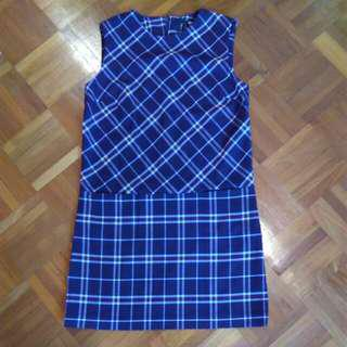 Uniqlo Plaid Dress Sz S