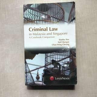 Yeo, Morgan & Cheong / Criminal Law Casebook