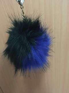 🥑Giant Blue/Green Pom Pom Keychain