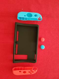 Nintendo switch silicone case and thumbgrip