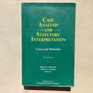 Beckman / Case Analysis and Statutory Interpretation