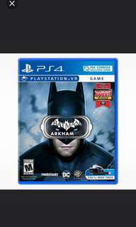 TRADE WITH SUMMER LESSON VR ALLOWED: BATMAN ARKHAM VR PS4