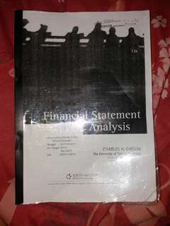 Financial Statement Analysis . Charles H. Gibson . South - Western Cengage learning