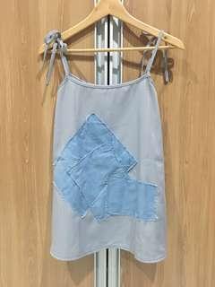 Soep shop denim patch mini dress/ top