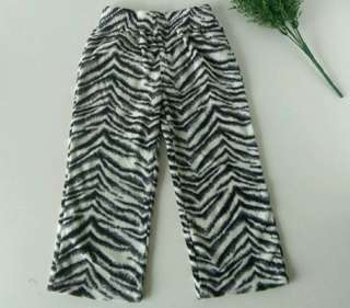 Leging zebra bulu celana zebra