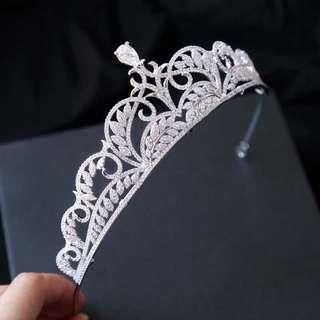 全鋯石新娘皇冠頭飾