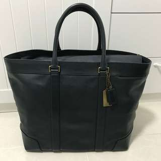 COACH Legacy Bleecker 70487 Blue Leather Weekend/Large Tote
